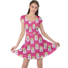 Ghost Pet Pink Cap Sleeve Dress by snowwhitegirl