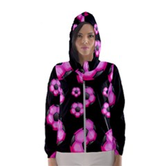 Wallpaper Ball Pattern Pink Hooded Windbreaker (women) by Alisyart
