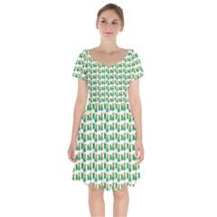 St Patricks Day Background Ireland Short Sleeve Bardot Dress