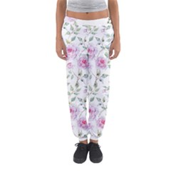 Pink Flowers Women s Jogger Sweatpants by goljakoff