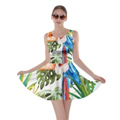Tropical Parrots Skater Dress by goljakoff