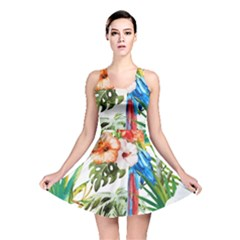 Tropical Parrots Reversible Skater Dress by goljakoff