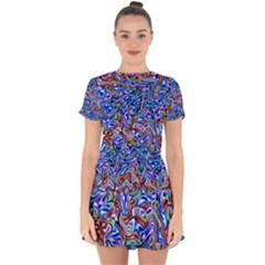 Ml-103 Drop Hem Mini Chiffon Dress by ArtworkByPatrick