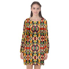 Ml 105 Long Sleeve Chiffon Shift Dress  by ArtworkByPatrick