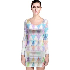 Zappwaits Papeete Long Sleeve Bodycon Dress by zappwaits