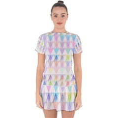 Zappwaits Papeete Drop Hem Mini Chiffon Dress by zappwaits