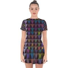 Zappwaits Style Drop Hem Mini Chiffon Dress by zappwaits