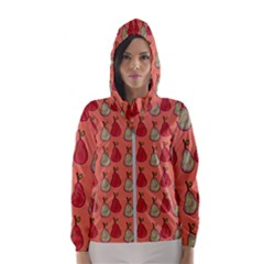 Pears Red Hooded Windbreaker (women) by snowwhitegirl