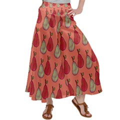 Pears Red Satin Palazzo Pants by snowwhitegirl