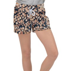 Wood Stick Piles Women s Velour Lounge Shorts by snowwhitegirl