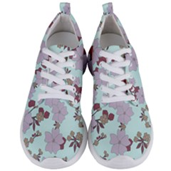 Vintage Floral Lilac Pattern Men s Lightweight Sports Shoes