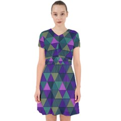 Blue Geometric Adorable In Chiffon Dress by snowwhitegirl