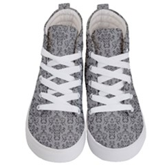 Victorian Paisley Grey Kids  Hi Top Skate Sneakers