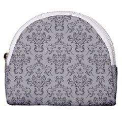 Victorian Paisley Grey Horseshoe Style Canvas Pouch