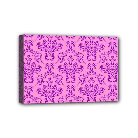 Victorian Paisley Pink Mini Canvas 6  X 4  (stretched)