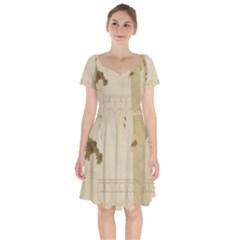 Flapper Lady Vintage Short Sleeve Bardot Dress by snowwhitegirl