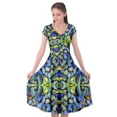 Ml 112 Cap Sleeve Wrap Front Dress