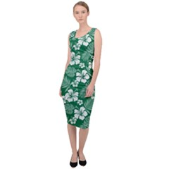 Colorful Tropical Hibiscus Pattern Sleeveless Pencil Dress by tarastyle