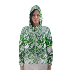 Seamless Tile Background Abstract Hooded Windbreaker (women)