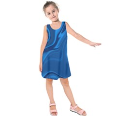 Rendering Streak Wave Background Kids  Sleeveless Dress by Pakrebo