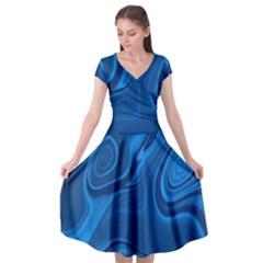 Rendering Streak Wave Background Cap Sleeve Wrap Front Dress