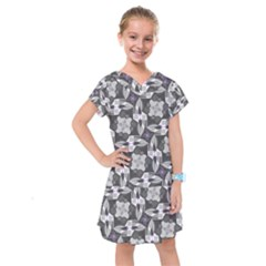 Ornament Pattern Background Kids  Drop Waist Dress by Pakrebo