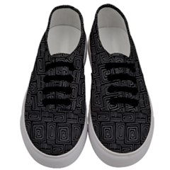 Gray Square Swirl Men s Classic Low Top Sneakers
