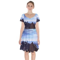Planet Discover Fantasy World Short Sleeve Bardot Dress