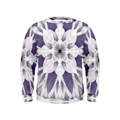 Fractal Floral Pattern Decorative Kids  Sweatshirt