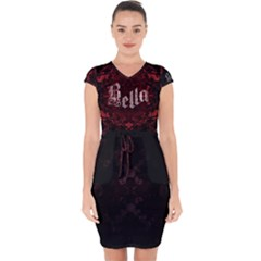 Bella Typo   Capsleeve Drawstring Dress  by darkaura