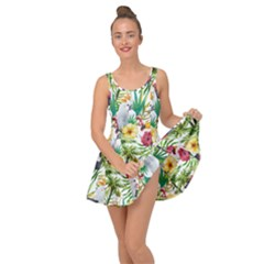 Tropical Parrots Pattern Inside Out Casual Dress by goljakoff
