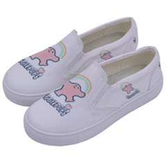 Huggiepops Rainbow   By Larenard Studios Kids  Canvas Slip Ons by LaRenard