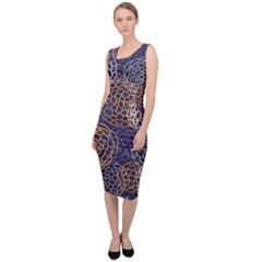Traditinal Japanese Art Sleeveless Pencil Dress by tarastyle