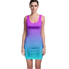 Fuschia Turquoise Dream Bodycon Dress
