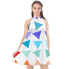 Zappwaits Design Halter Neckline Chiffon Dress  by zappwaits