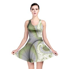 Graphic Fractal Eddy Curlicue Leaf Reversible Skater Dress