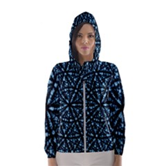Blockchain Cryptography Hooded Windbreaker (women) by Pakrebo