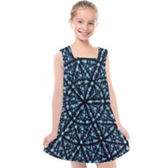 Blockchain Cryptography Kids  Cross Back Dress by Pakrebo