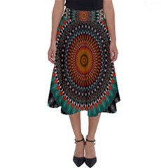 Ornament Circle Picture Colorful Perfect Length Midi Skirt