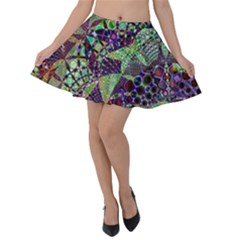 Background Design Art Artwork Velvet Skater Skirt
