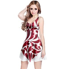 Abstract Geometric Art Fractal Reversible Sleeveless Dress