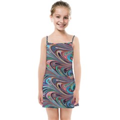Seamless Abstract Marble Colorful Kids  Summer Sun Dress by Pakrebo