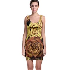 Roses Flowers Love Red Plant Bodycon Dress by Pakrebo