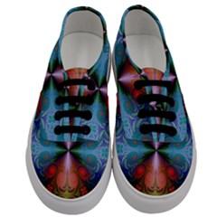 Fractal Fractal Background Design Men s Classic Low Top Sneakers