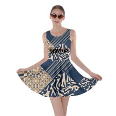 Abstract Glitch Pattern Skater Dress