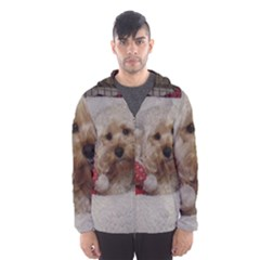 Cockapoo In Dog s Bed Hooded Windbreaker (men) by pauchesstore