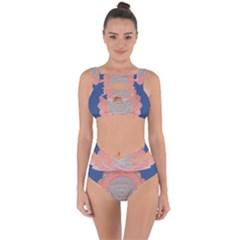 Boho Bliss Peach Metallic Mandala Bandaged Up Bikini Set  by beautyskulls