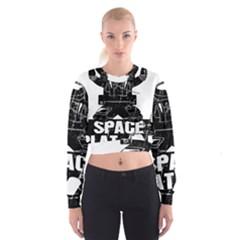 Platoon Space War Soldier Usa Cropped Sweatshirt by Bejoart