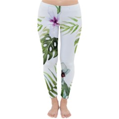 Tropical Flowers Classic Winter Leggings by goljakoff