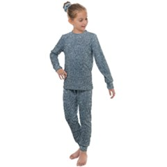 Silver Sparkle Kids  Long Sleeve Set  by retrotoomoderndesigns